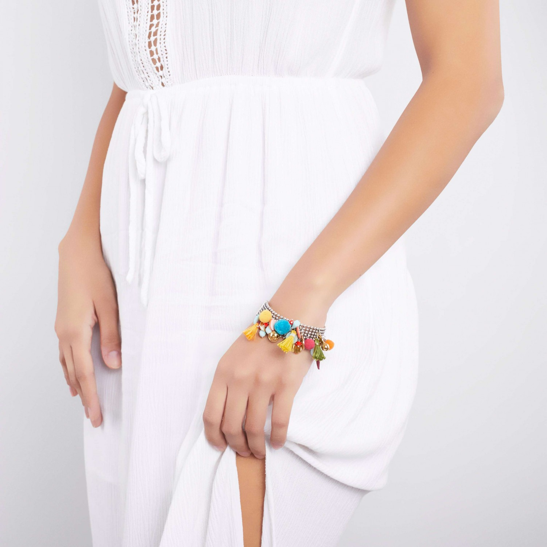 ABELLA bracelet multipampilles XL