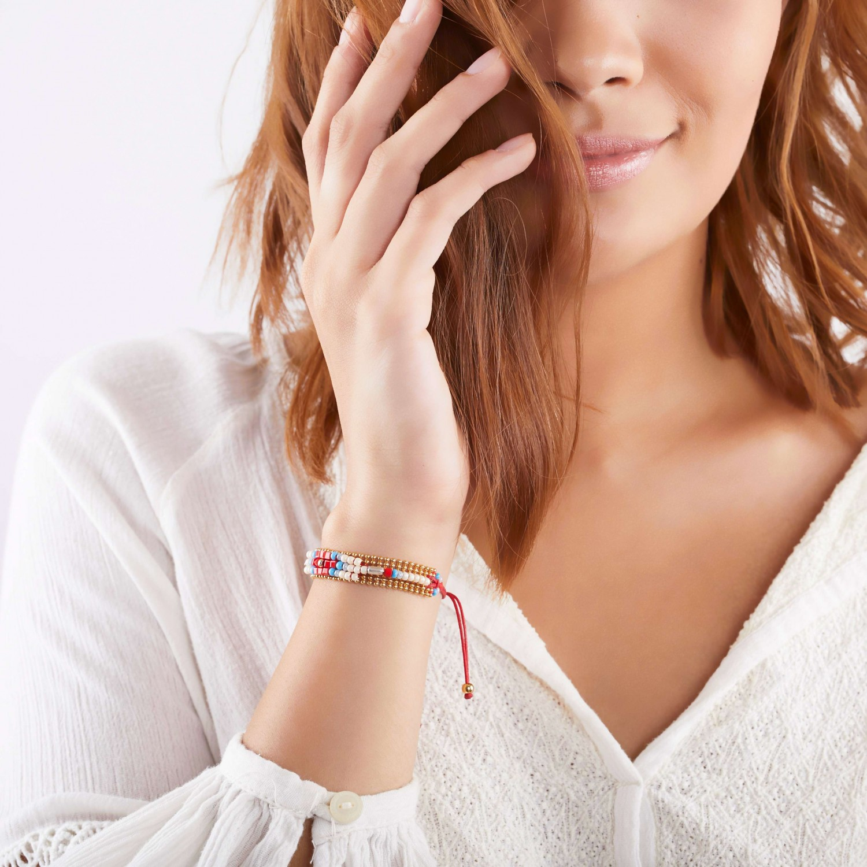 APONI beaded chain macrame bracelet
