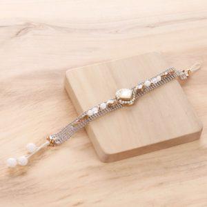 ADELE bracelet chaine brodée
