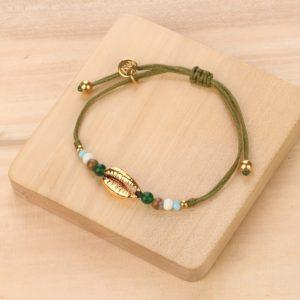 DONNA bracelet macramé caurie métal