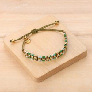 DONNA bracelet macramé chaine strass