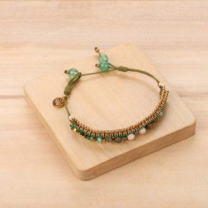 DONNA bracelet chaine tissée