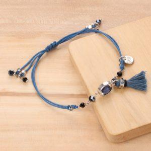 LISA bracelet macramé pompon