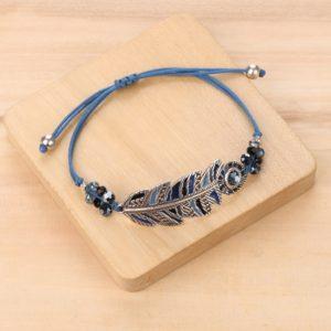 LISA bracelet macramé plume XL