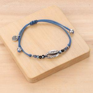 LISA bracelet macramé caurie métal