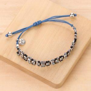LISA bracelet macramé chaine & strass