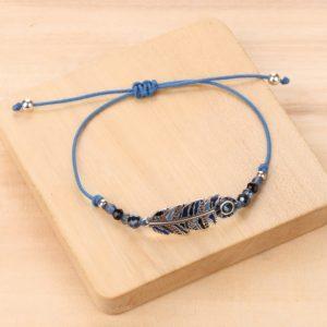 LISA bracelet macramé plume XS