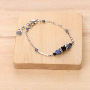 LISA bracelet fin 3 perles