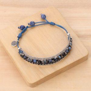 LISA bracelet chaine plate tissée