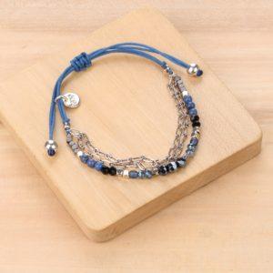 LISA bracelet macramé 3 rangs