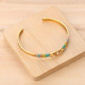MIA bracelet rigide fils tissés