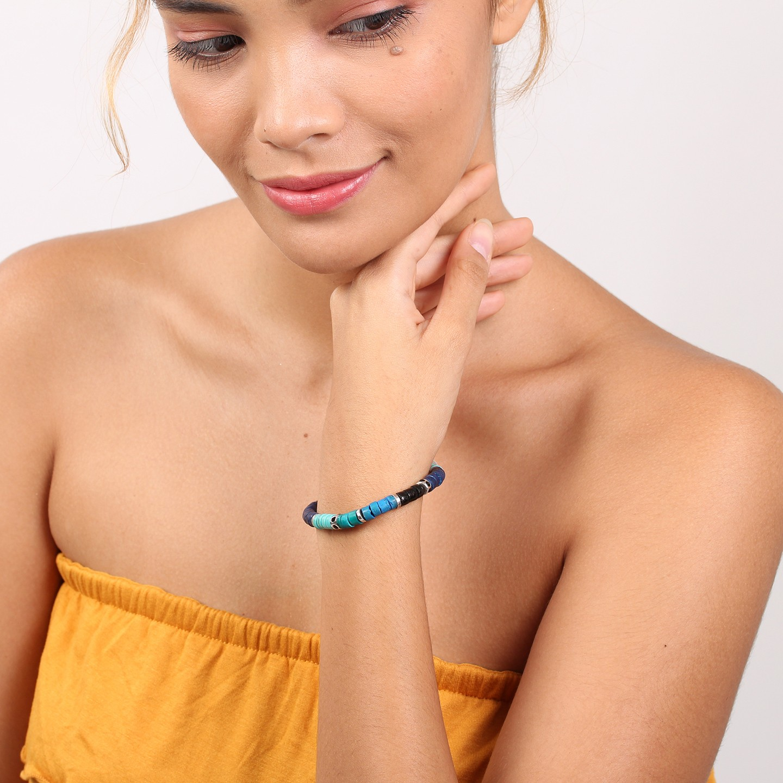 SHARON bracelet extensible (bleu)