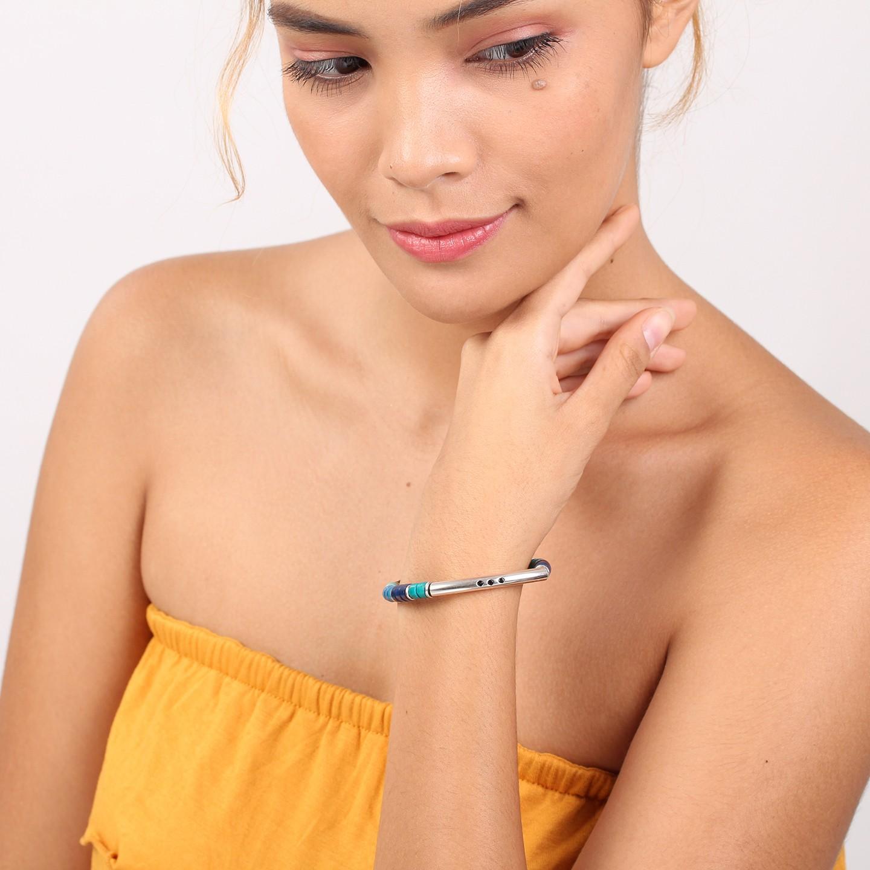 SHARON bracelet extensible tube (bleu)