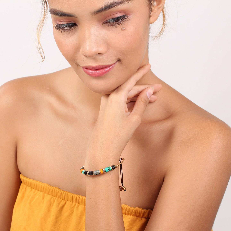 SHARON bracelet macramé (orange)