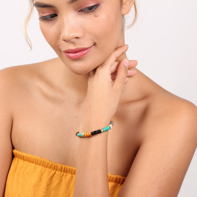 SHARON bracelet extensible (orange)
