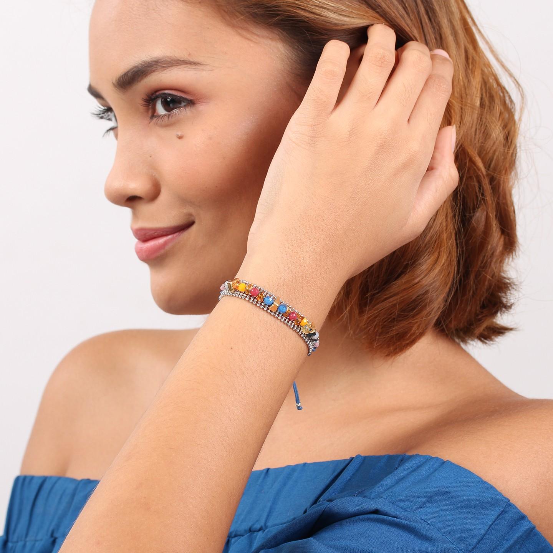 DAPHNE bracelet chaine macramé