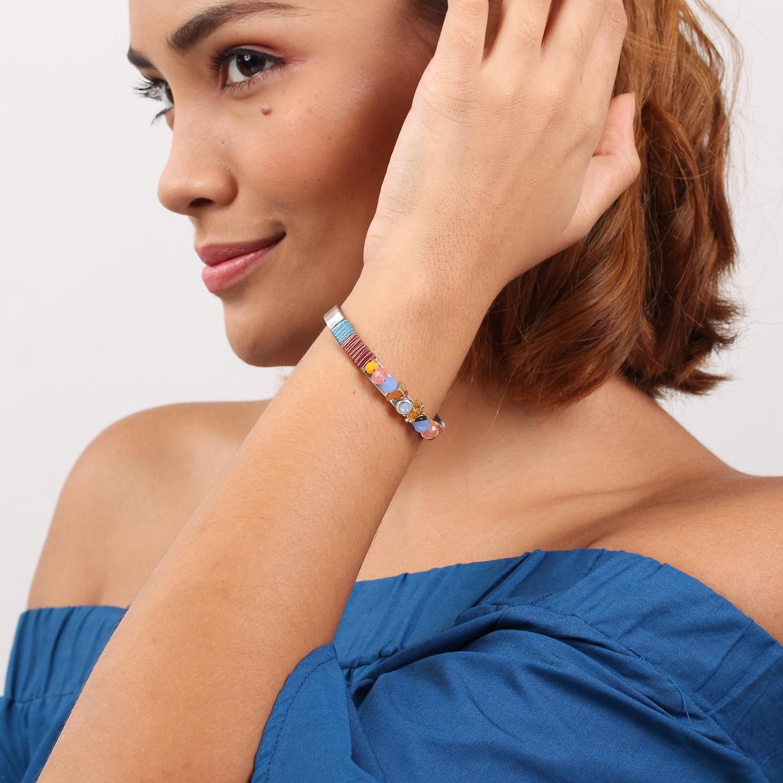 DAPHNE bracelet jonc petit pompon