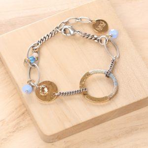 LUCIE bracelet anneau tissé
