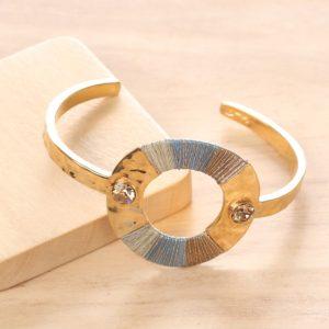 LUCIE bracelet rigide 2 strass