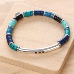 SHARON bracelet extensible tube (bleu)
