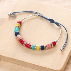 SHARON bracelet macramé (rouge)