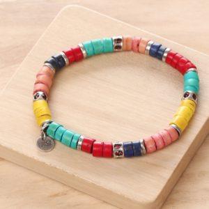 SHARON bracelet extensible (rouge)