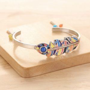 LENKA bracelet rigide plume