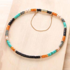 SHARON collier simple (orange)