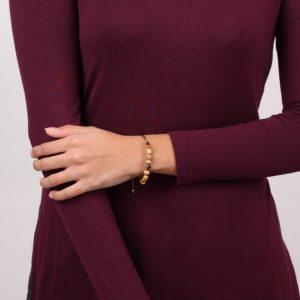 YOUNA bracelet rigide macramé