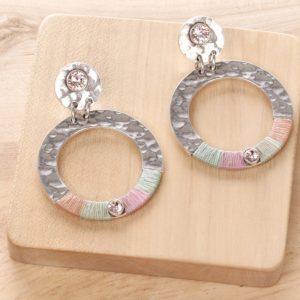 LOLA *BO poussoir top strass & anneau