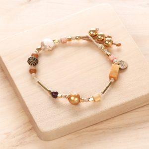 YOUNA bracelet simple fermoir bouton