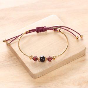 JULIE bracelet semi-rigide macramé
