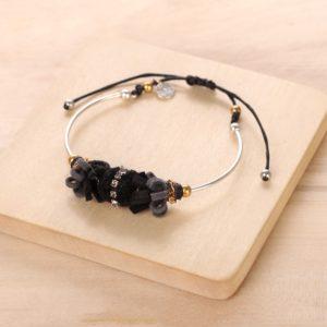 AGNES bracelet pompon boule & strass