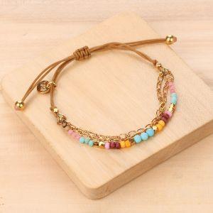 MIA bracelet macramé 3 rangs