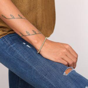 COLETTE bracelet turquoise chaîne strassée