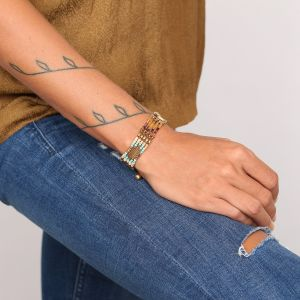 COLETTE bracelet macramé 5 rangs
