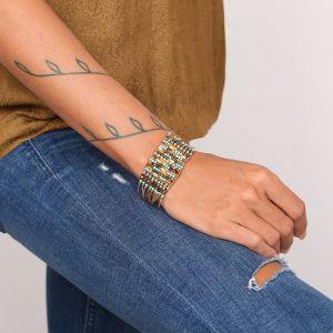 COLETTE gros bracelet 9 rangs