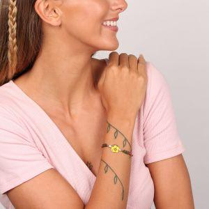 BABETTE bracelet fin fleur jaune