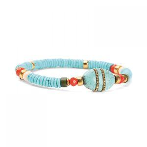 TINA bracelet extensible bleu
