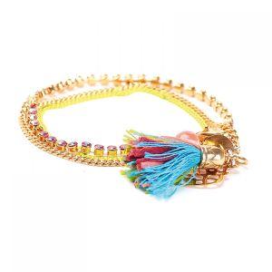 GIULIA bracelet fin 3 rangs