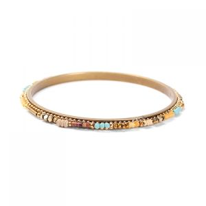 COLETTE bracelet rigide perlé