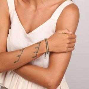 PENELOPE  bracelet macramé chaîne strassé
