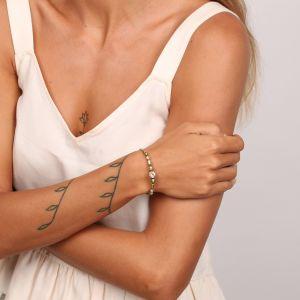 PENELOPE bracelet jonc ouvert perlé