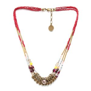 SOFIA 3 row bead necklace