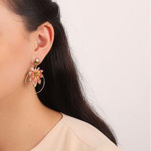 LISE boucles d'oreilles anneau feuille