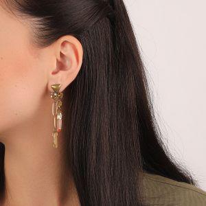 CLARA boucles d'oreilles 2 rangs