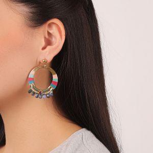 FLO boucles d'oreilles gitanes (fushia)