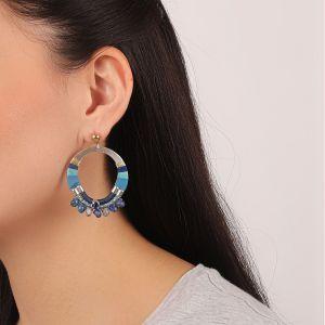 FLO boucles d'oreilles gitanes (bleu)
