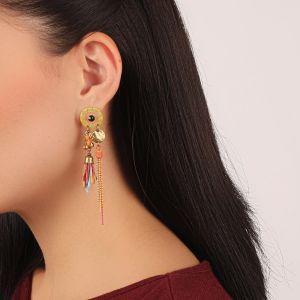 KORALIE boucles d'oreilles 2 rangs