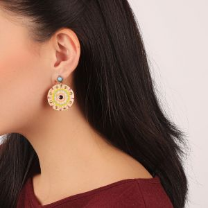 KORALIE boucles d'oreilles strass turquoise